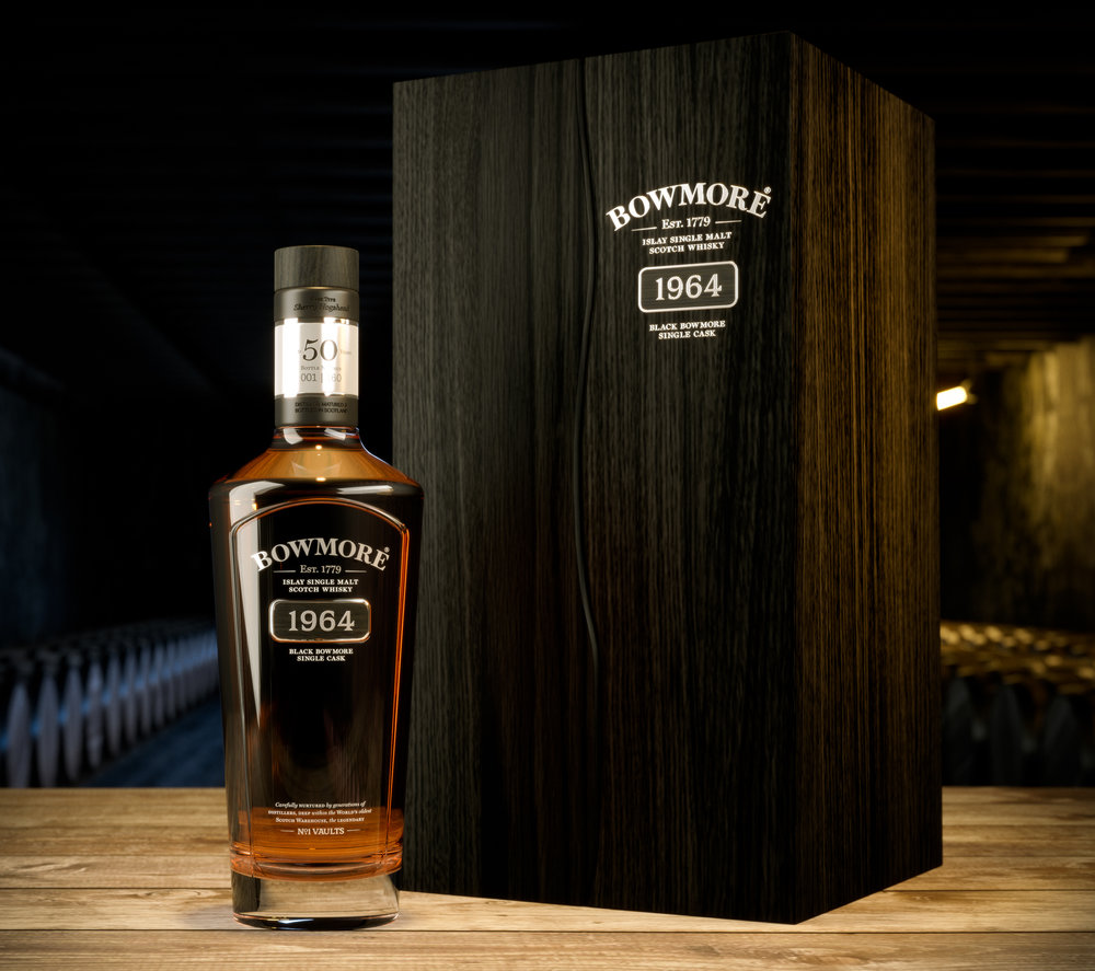 <b>Bowmore</b><br>Creating world class visuals for the luxury Black Bowmore 50 year old and 1966.