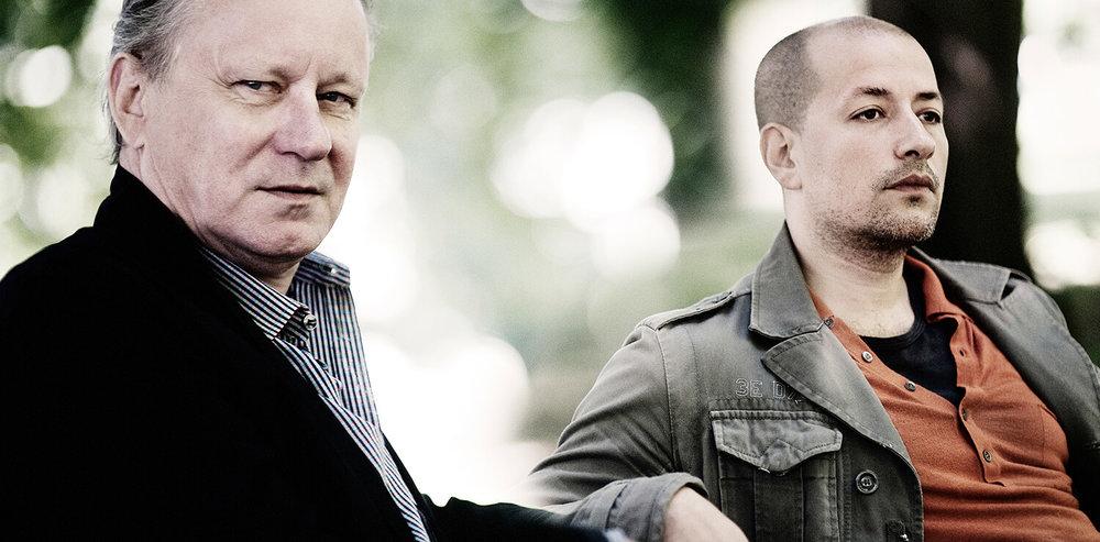 Stellan Skarsgård with Tarik Saleh