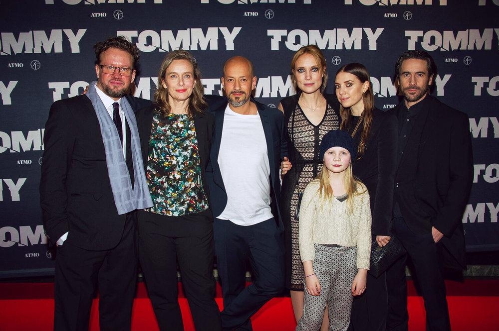 Gathering at the Tommy premiere: <br>Anton Hagwall, Kristina Åberg, Tarik Saleh, Moa Gammel, Inez Bruckner, Lykke Li Zachrisson and Ola Rapace.