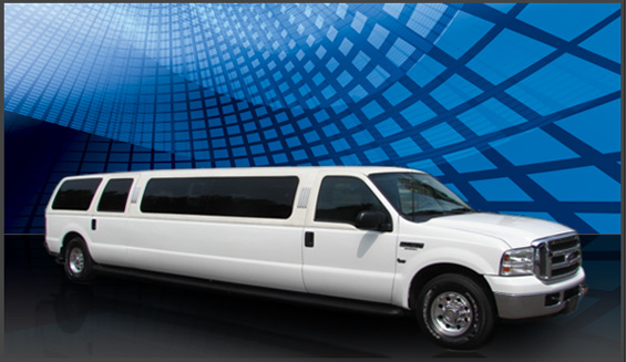 16 Passenger Ford Excursion (White)