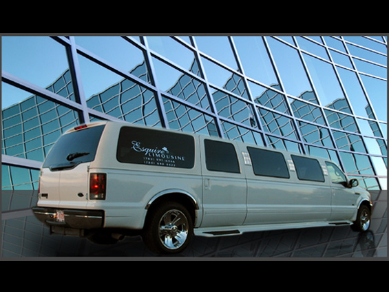 12 Passenger Ford Excursion (White)