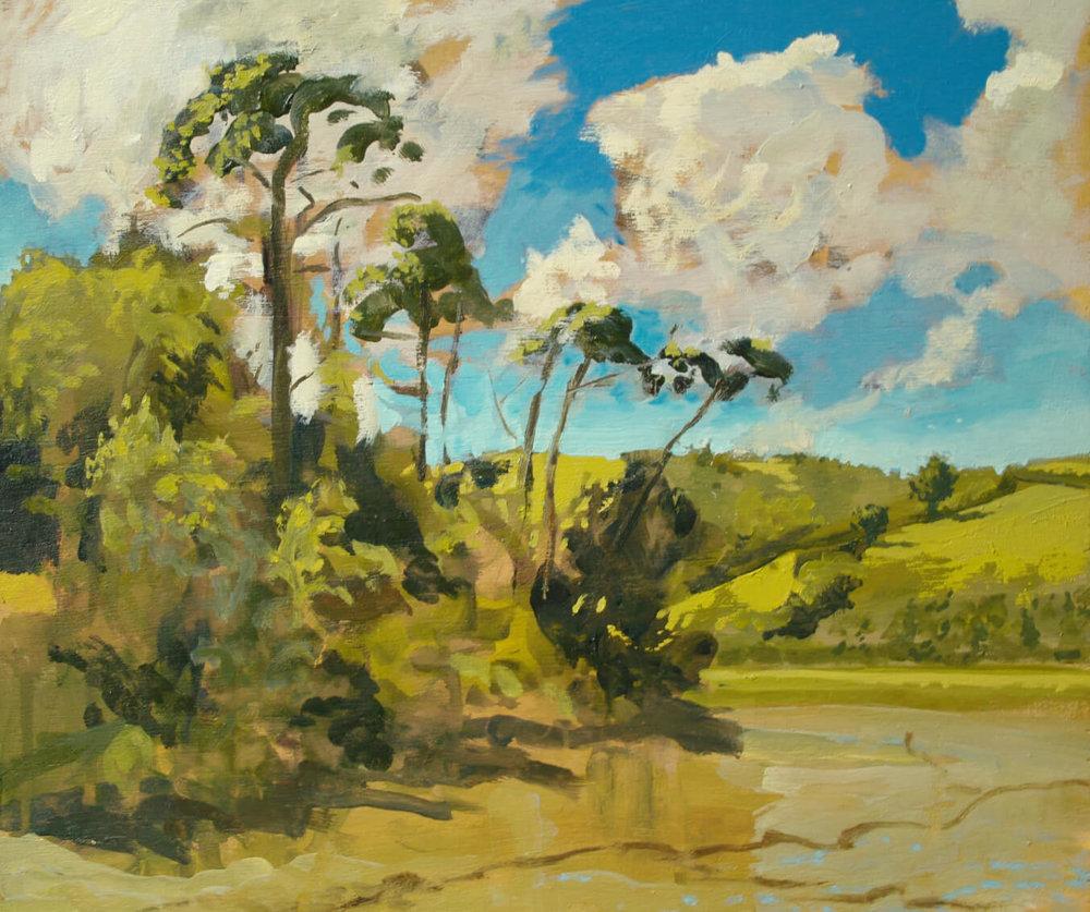 St Just - June Light ( Oil on Panel ) 40 x 47.5 cm