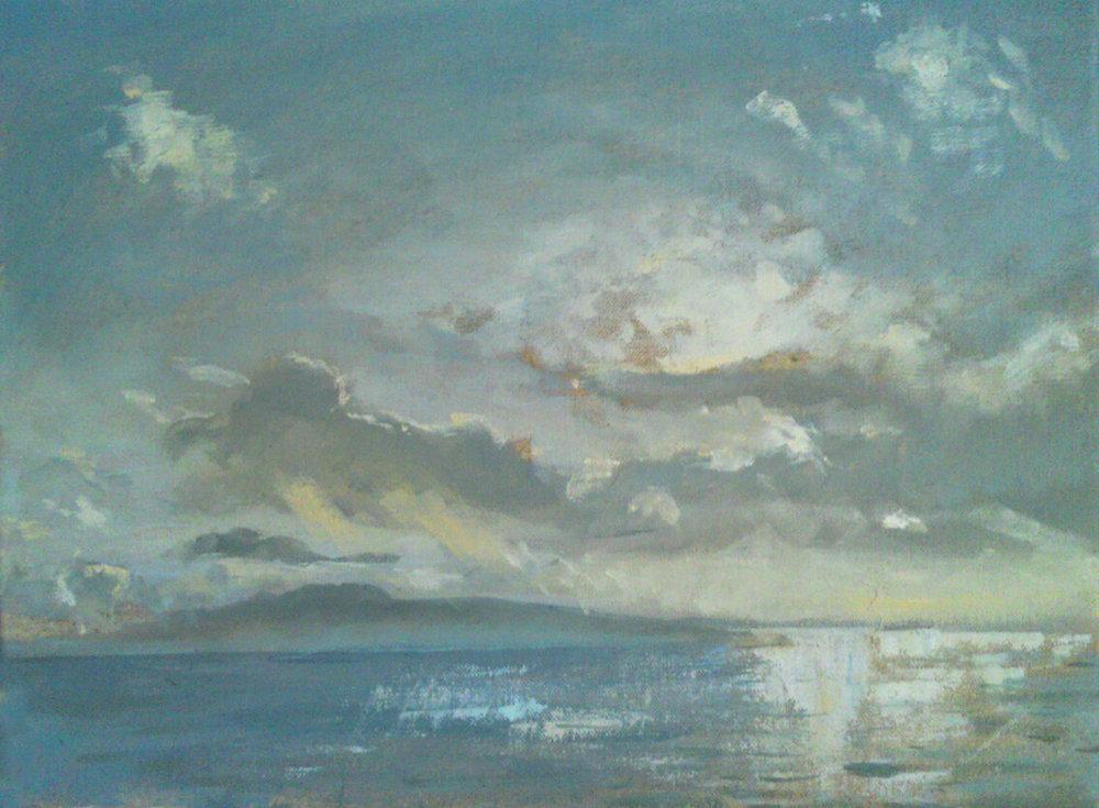 Colonsay Winter Light VI ( Oil on Linen ) 30 x 40 cm
