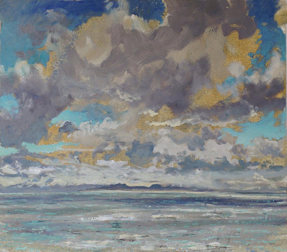 Colonsay High Cloud Autumn Morning ( Oil on Panel ) 75 x 86 cm