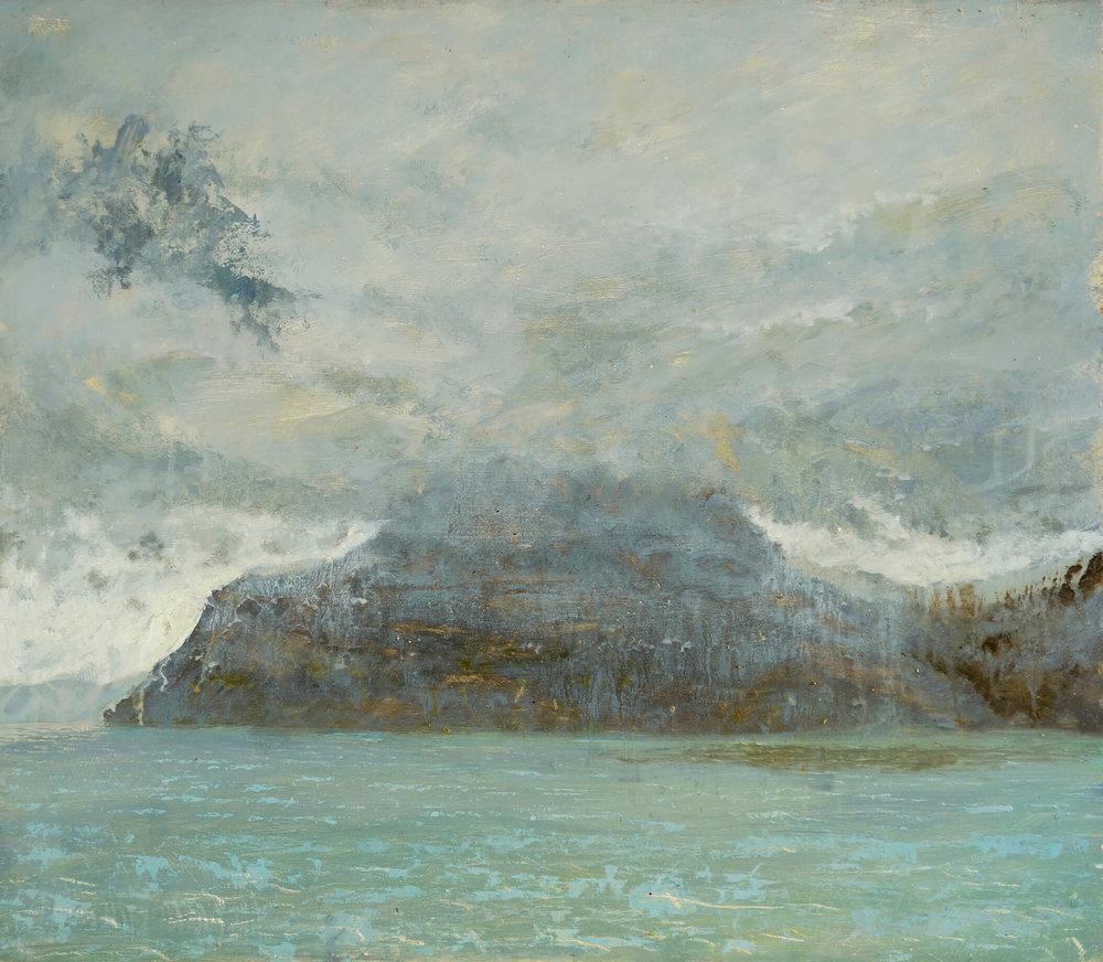 Bearraich in Rain Winter ( Oil on Panel ) 75 x 86 cm