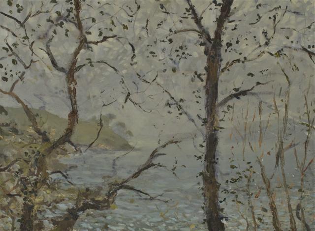 Mist Light in Trees – Helford River ( Oil on Panel ) 33 x 44 cm