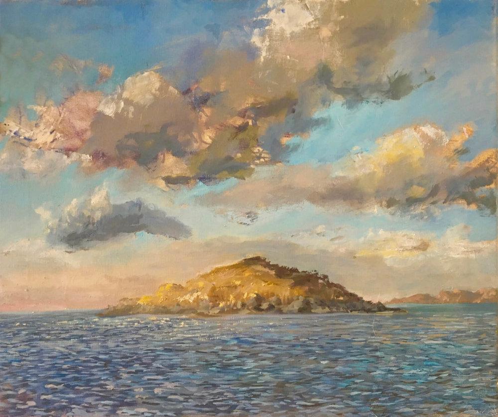 Eilean Ban - Winter Evening ( Oil on Canvas ) 52 x 61 cm