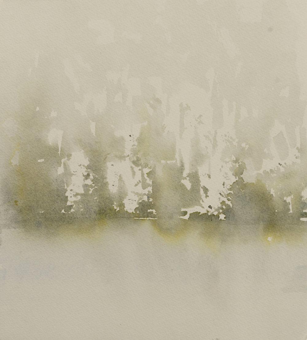 RHSK096 Matsubarako Lake Mist I ( Watercolour ) 30.5 x 28 cm