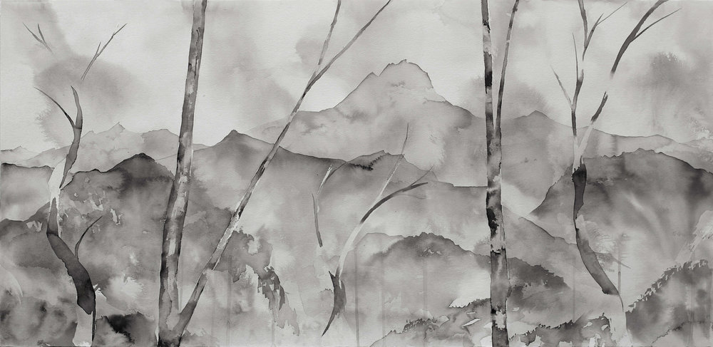 The Dream of Koumi I ( Ink on Paper ) 49.5 x 101 cm