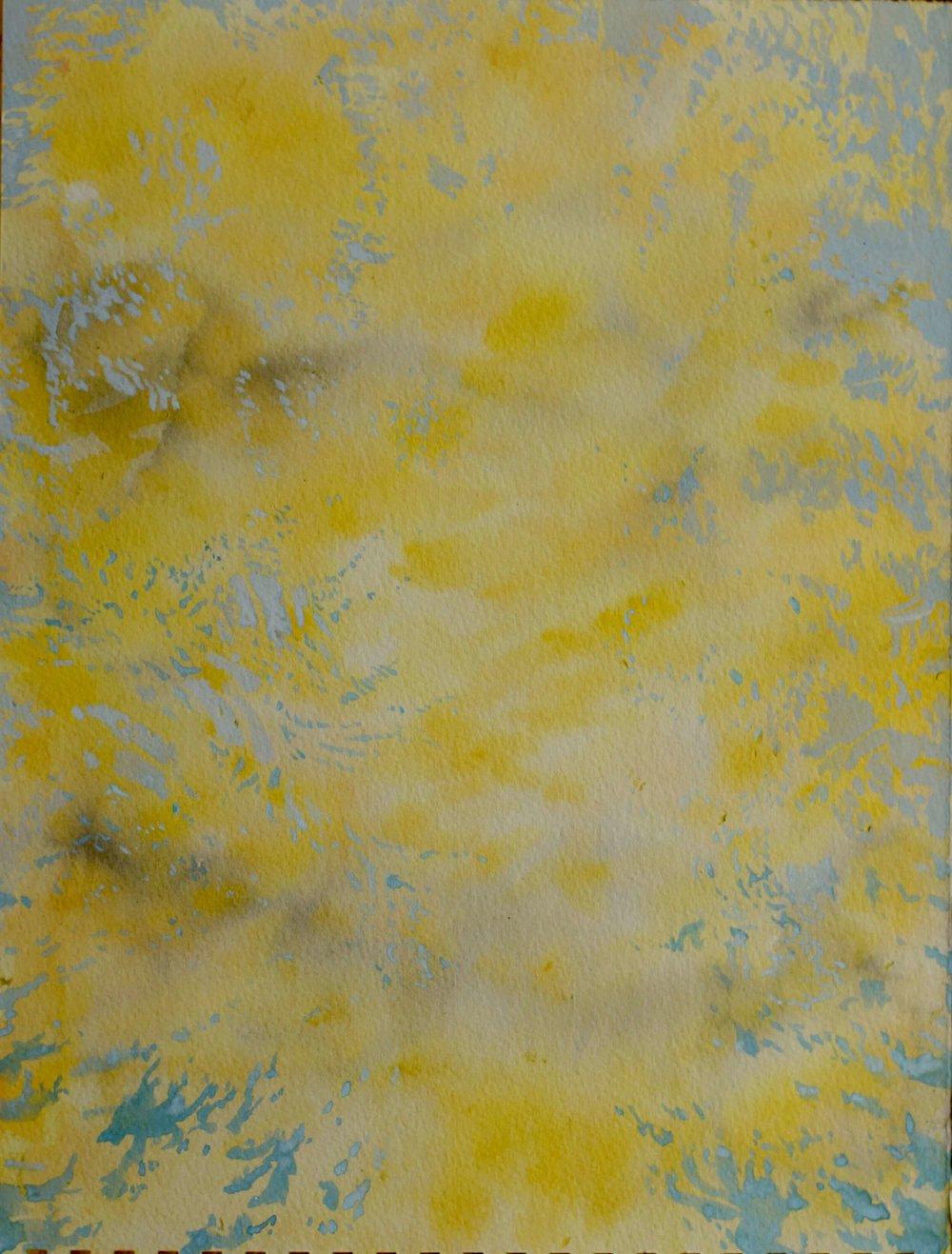 RHSK167 Listening to the Acacia ( Watercolour ) 37 x 28.5 cm
