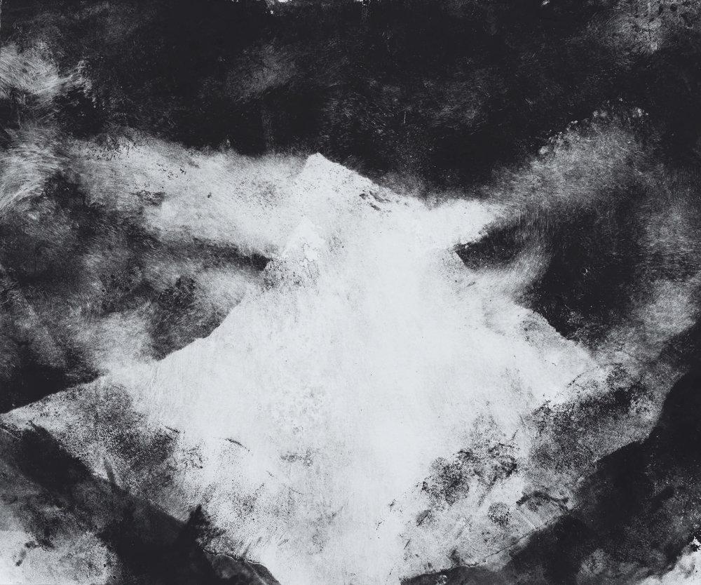 RHSK103 Mountain of Light ( Monotype ) 31.4 x 38 cm