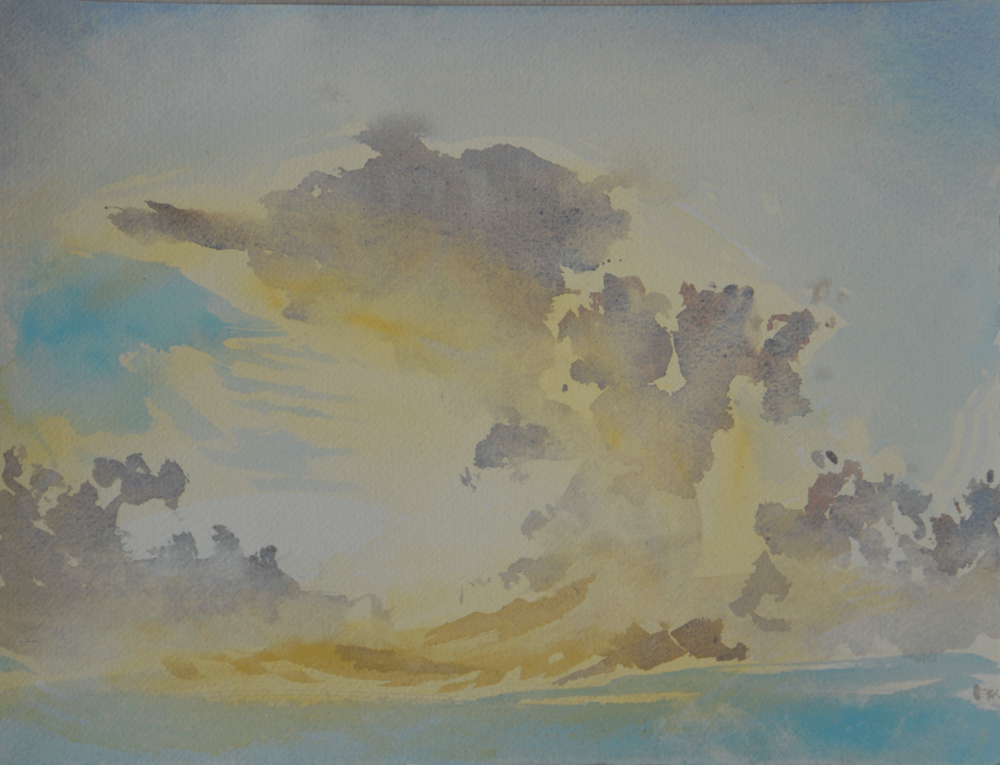 The Sea and Clouds - Mayo (Watercolour) 28.5 x 37 cm