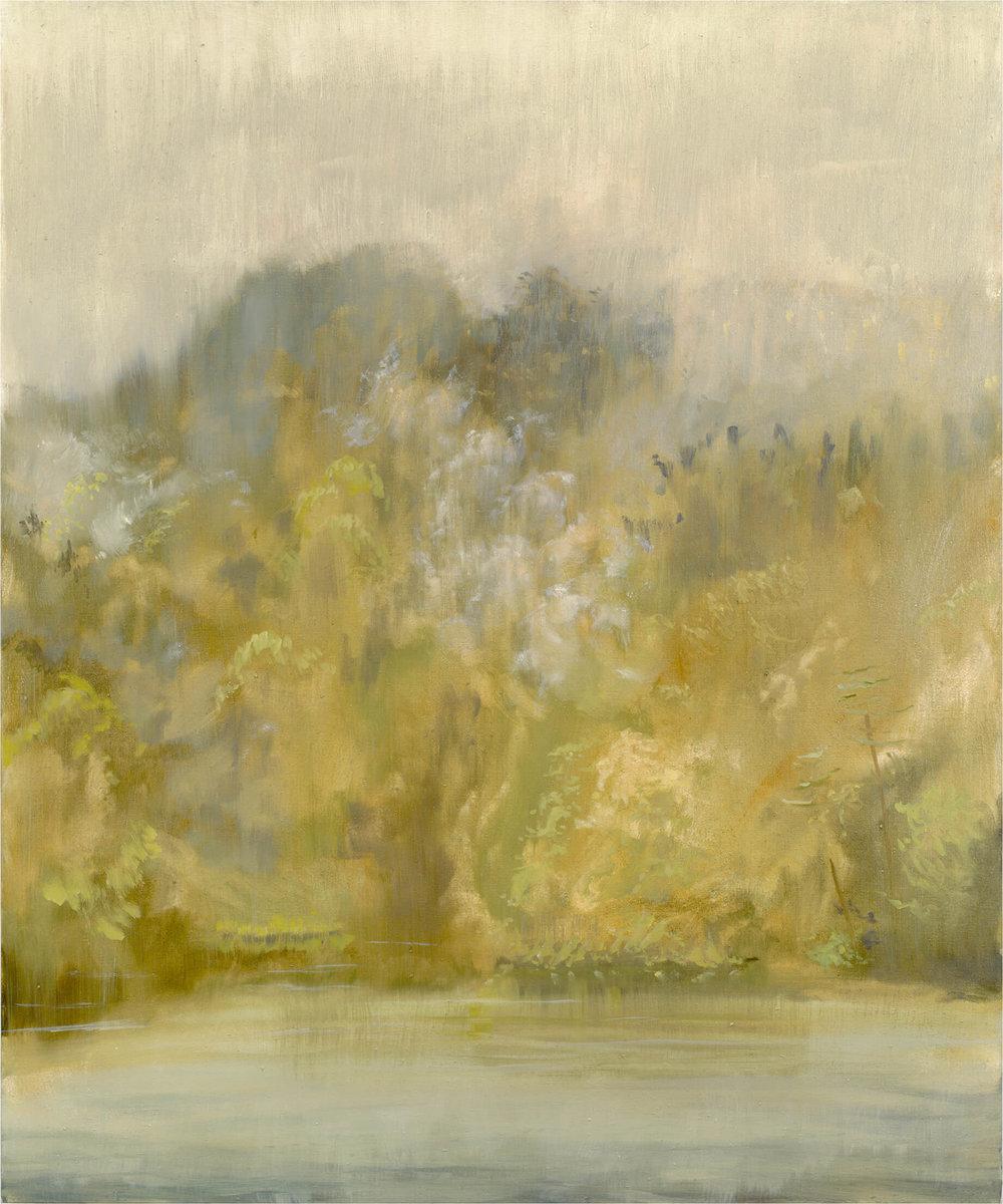 RHSK061 Matsubarako Lake Rising Cloud and Rain Mist ( Oil on Linen ) 120 x 100 cm
