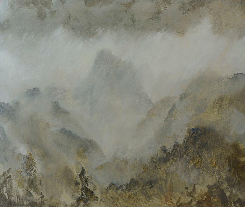 RHSK074 Shinkai Valley Rain Light ( Oil on Panel ) 45.5 x 54 cm