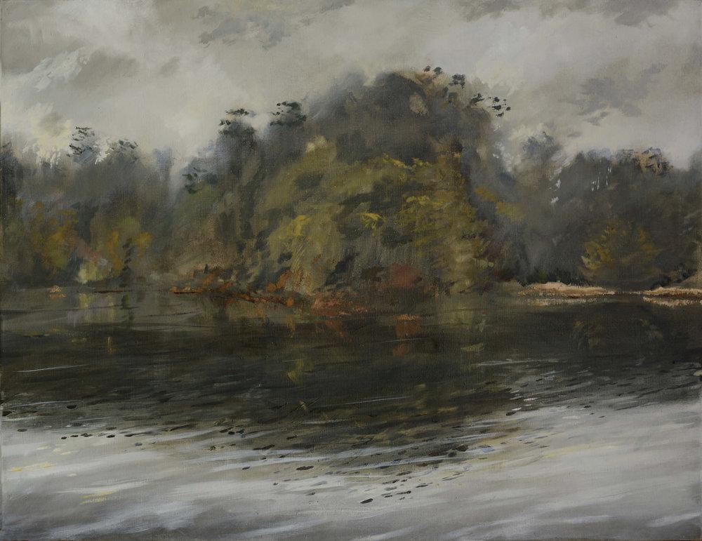 RHSK005 Matsubarako Lake Winter Evening Mist ( Oil on Linen) 85 x 110 cm