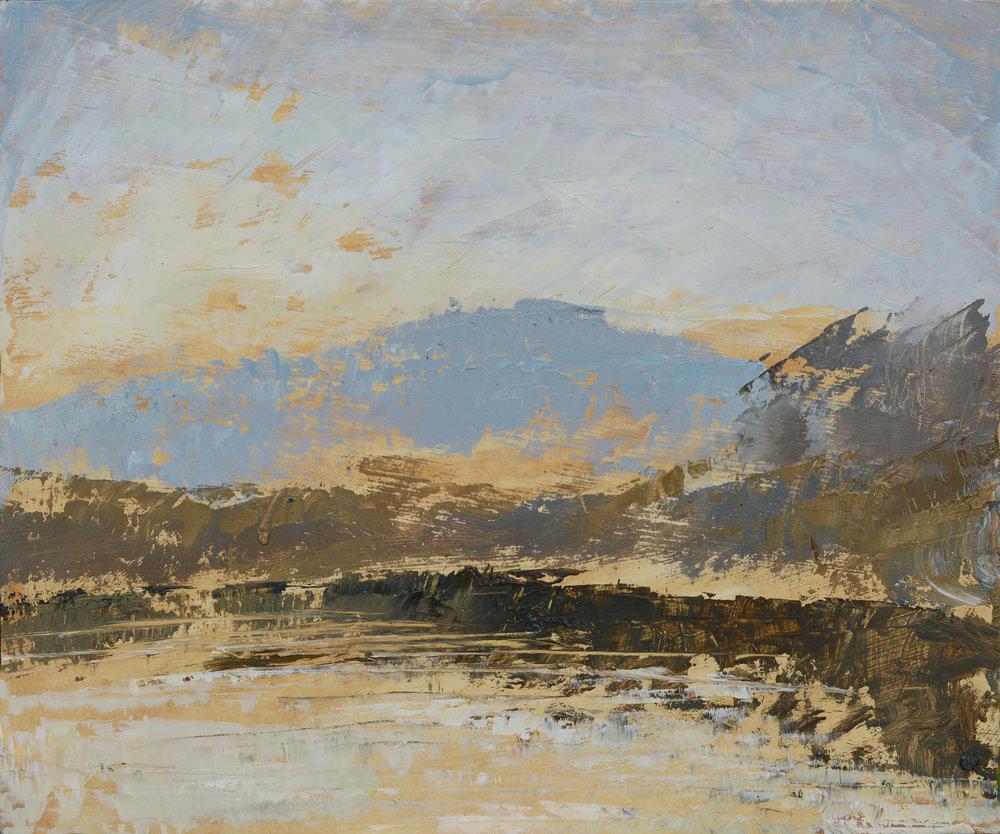 RHSK083 Matsubarako Lake Winter ( Oil on Panel ) 22.5 x 27 cm