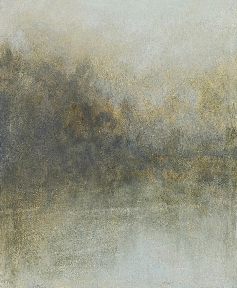 RHSK114 Matsubarako Lake Summer Dusk ( Oil on Linen ) 120 x 110 cm