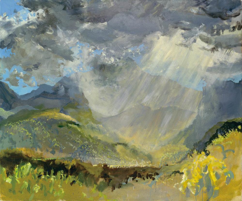 RHSK060 Tengudake and Descending Cloud Light ( Oil on Linen ) 163 x 194.5 cm