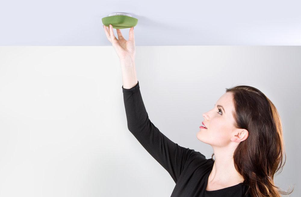 Kupu Smoke detector Ceiling installing image mounting