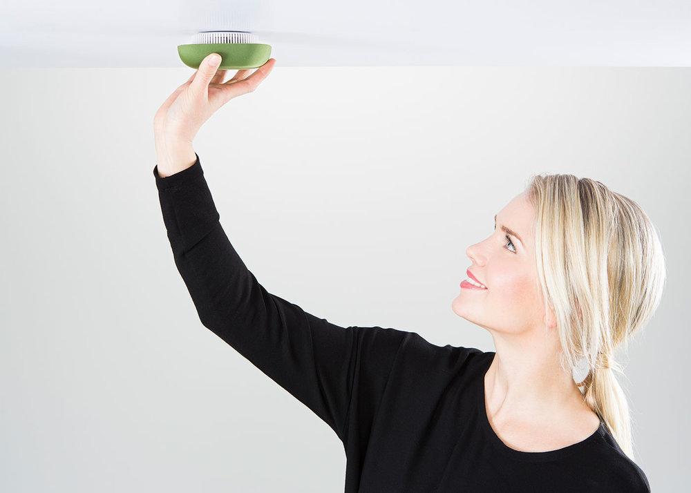 Kupu Smoke alarm Green Harri Koskinen Ceiling