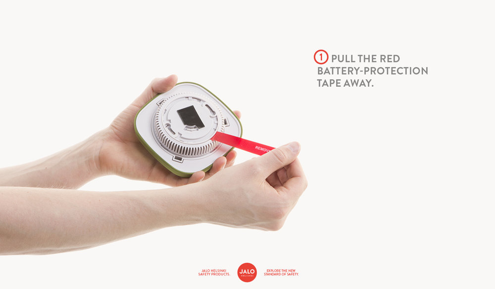 Pull the red battery-protection tape away