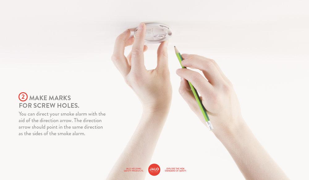 Make marks for screw holes
