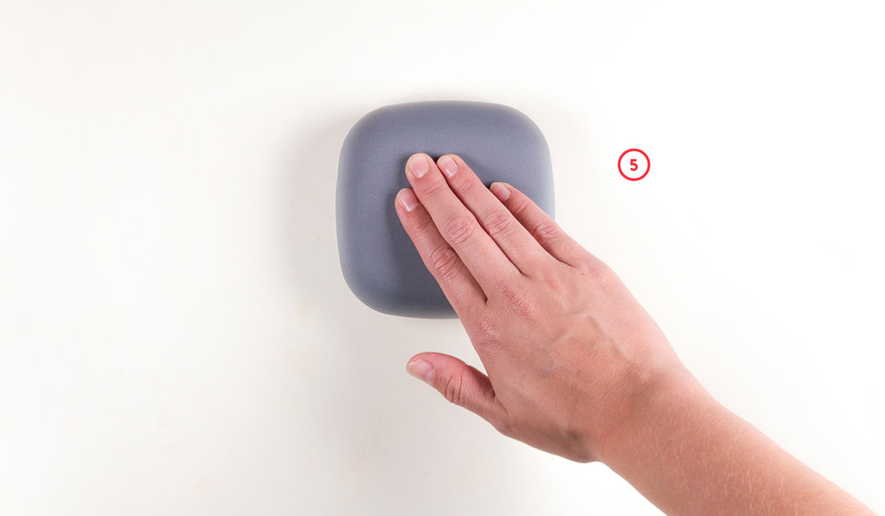 After installing smoke alarm, test it by pressing the surface of the smoke alarm