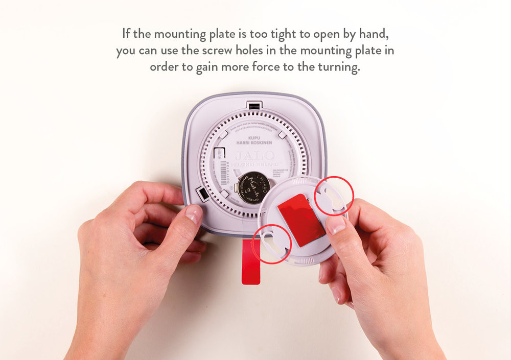Smoke alarm and Mounting plate