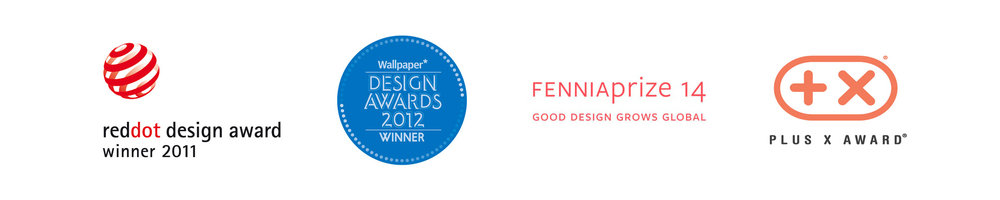 Design Awards Jalo Helsinki has won - Reddot design award - Wallpaper design awards - Fenniaprize - Plus X