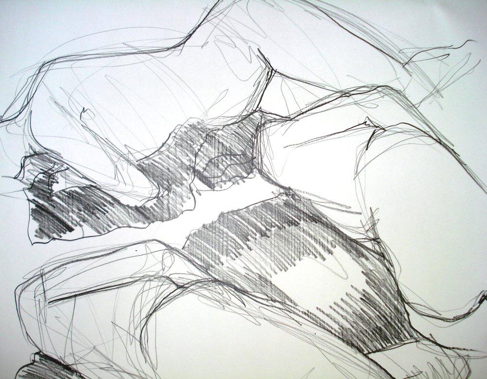 graphit auf papier