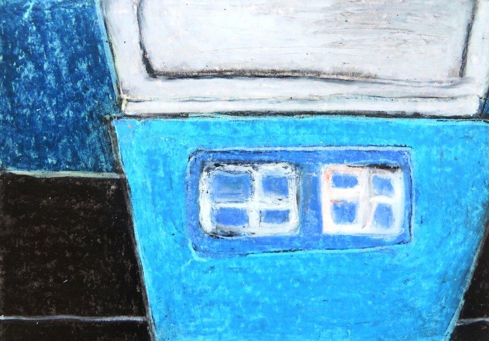 ölkreide auf aquarellpapier