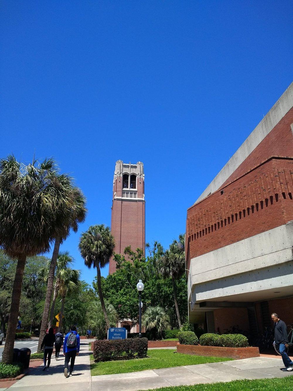 UF School of Music and Century Tower