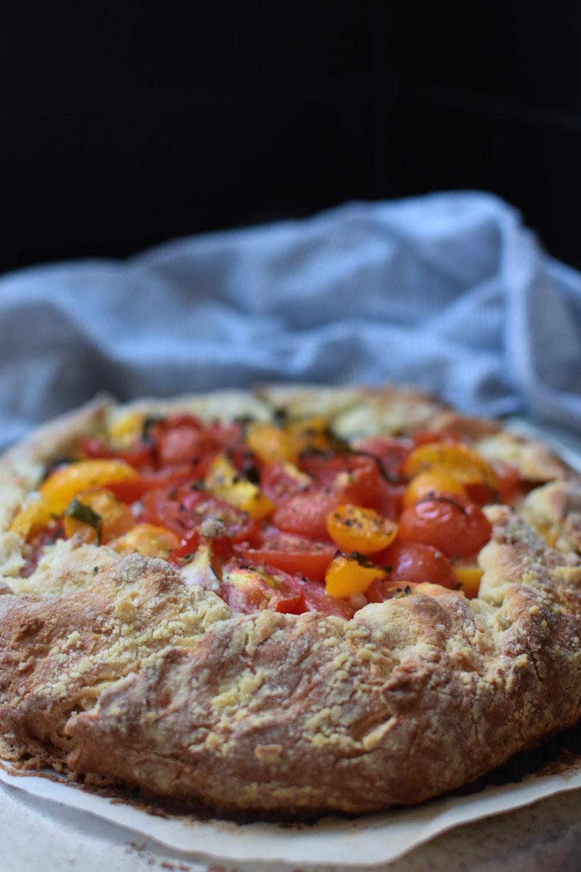 heirloom tomato galette