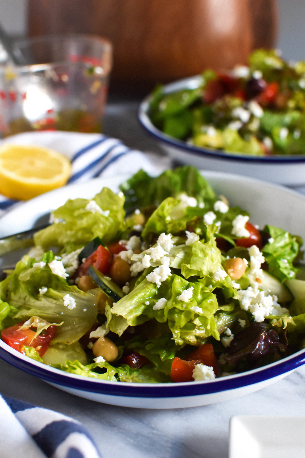 summer greek salad with avocado #makemary