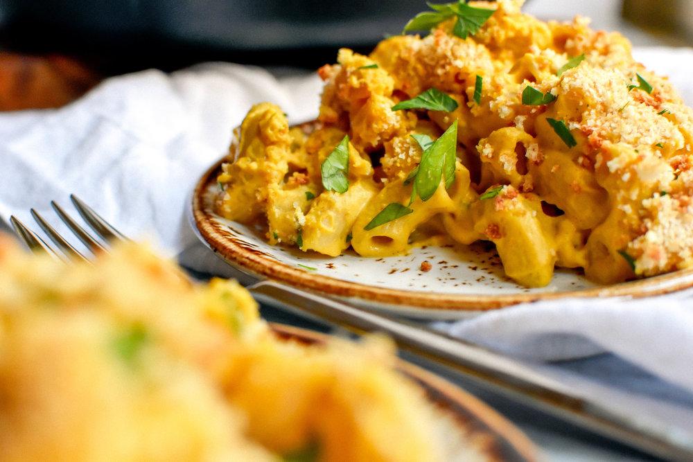 Vegan and Gluten-free Butternut Squash Mac and Cheese