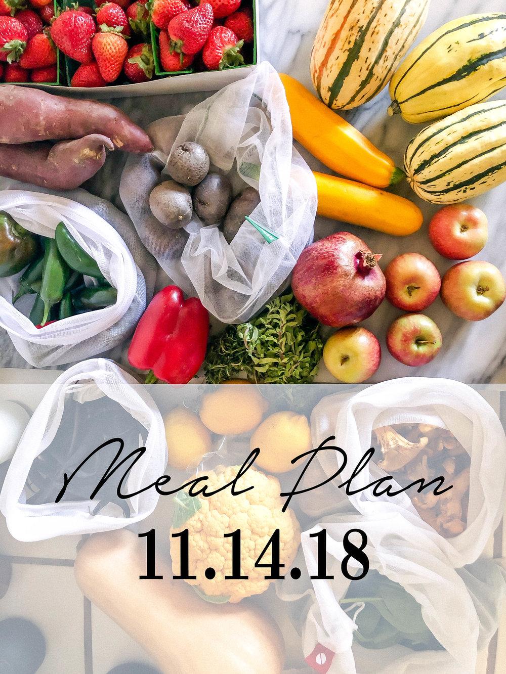 meal plan for November