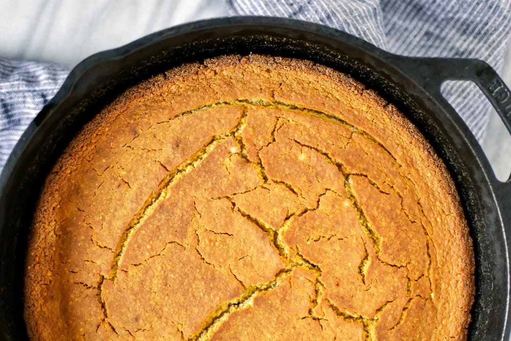 easy gluten-free and vegan skillet cornbread