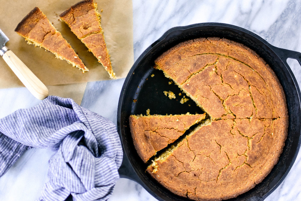easy gluten-free and vegan skillet cornbread