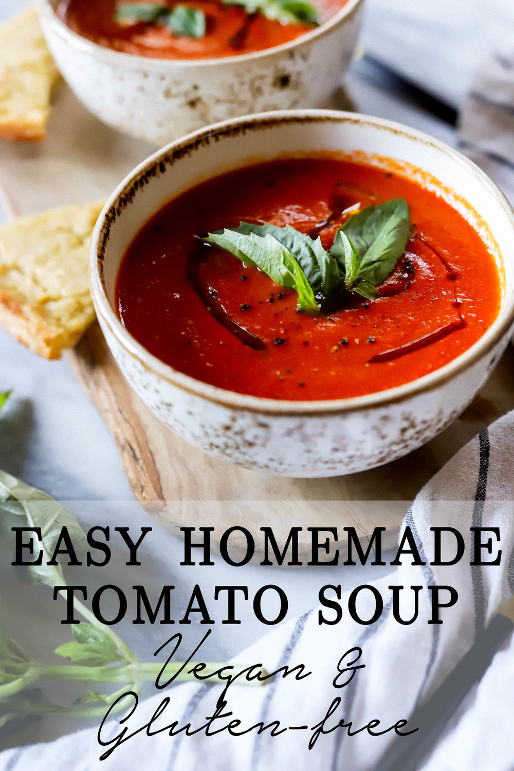 Easy vegan and gluten-free homemade tomato soup