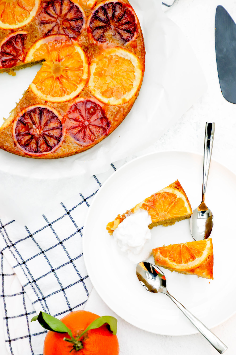 vegan and gluten free blood orange upside down cake