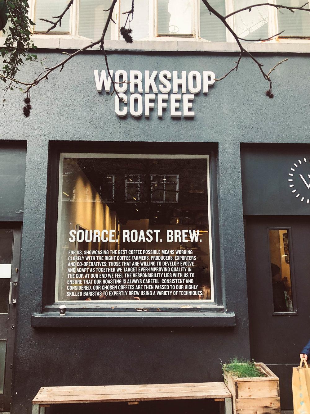 Workshop Coffee Storefront London