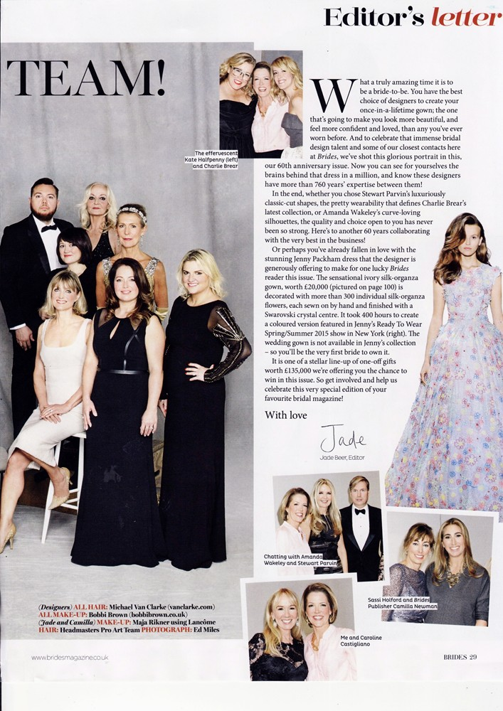 Brides Magazine Jan/Feb 2015 - Designer Dream Team - 2/2