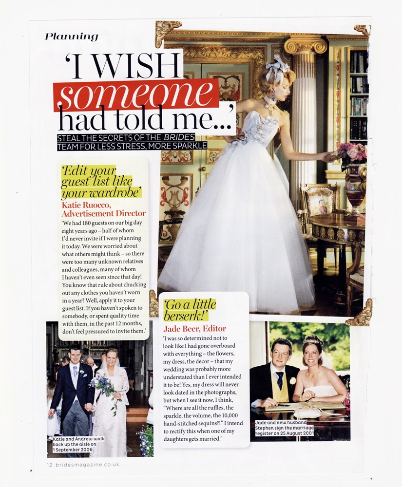Brides Magazine Jan/Feb 2015 - Antoinette Gown