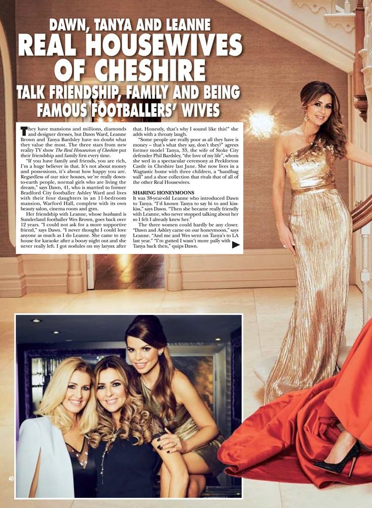 HELLO! Magazine February 2015 - Goldfire Gown - 2/2