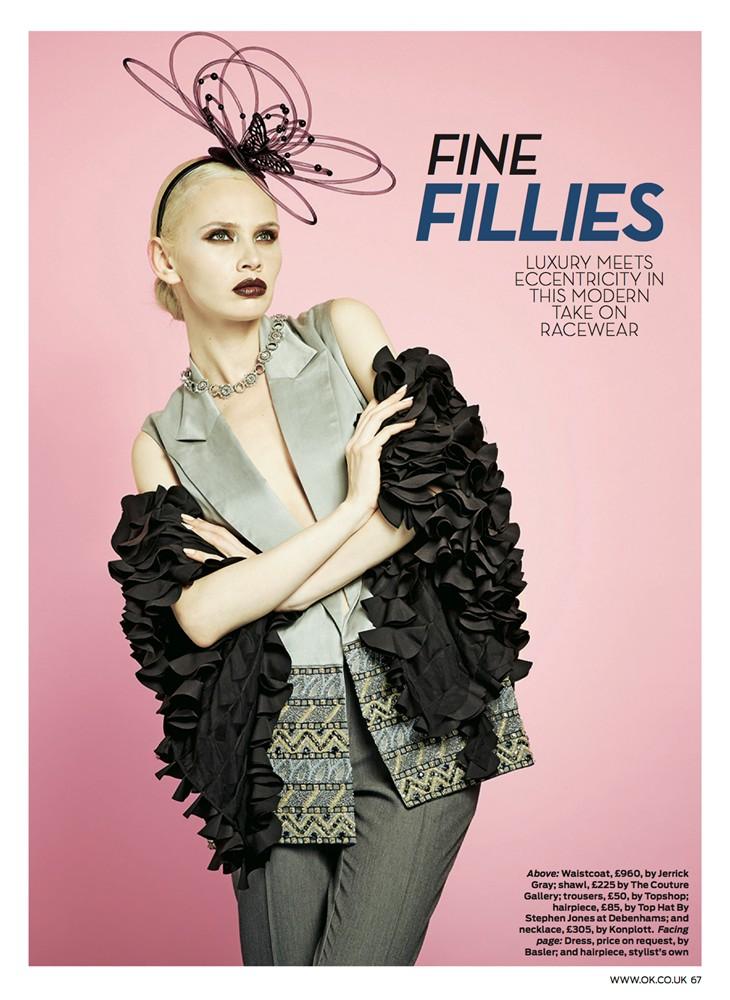 OK! Magazine June 2014 - Petal Cocoon Cape - 2/2
