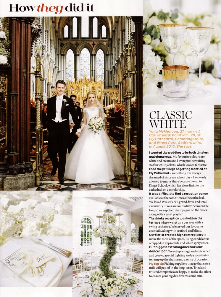 Brides Magazine Sep/Oct 2013 - Real Wedding - 1/2
