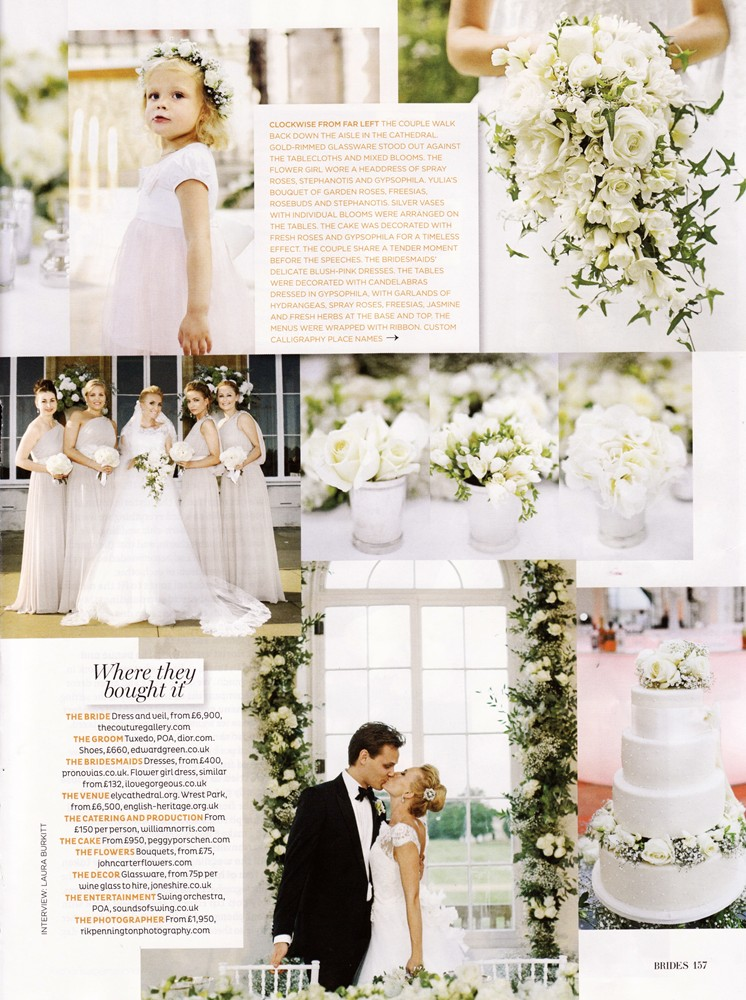 Brides Magazine Sep/Oct 2013 - Real Wedding - 2/2