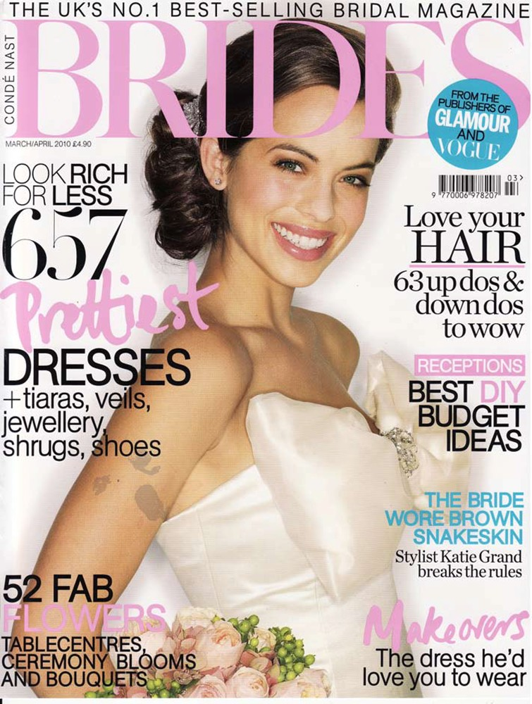 Brides Magazine March/April 2010 - Diamond bow dress - Cover