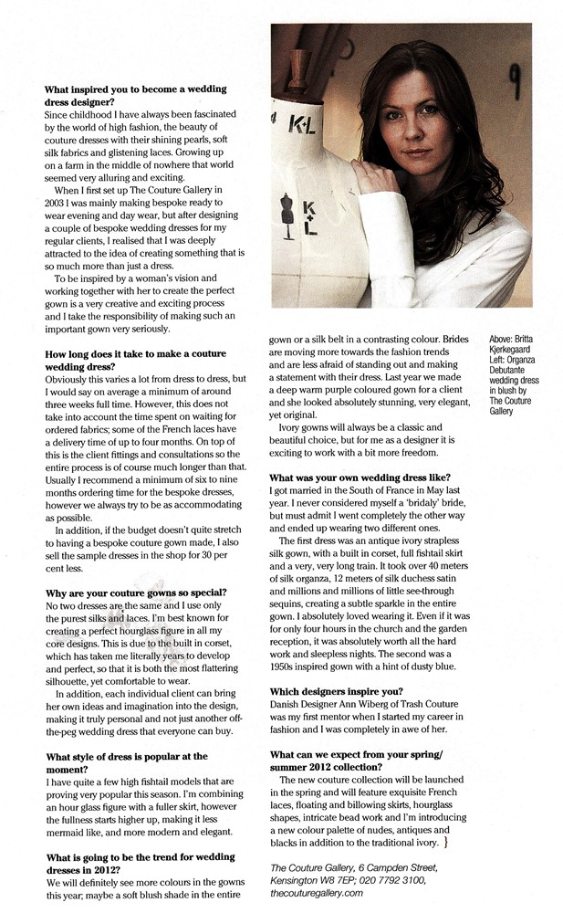 The Hill Magazine April 2012 - Designer Profile 1/2