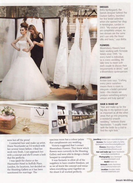 Dream Weddings 2012 - Behind the Shoot Article - 1/2